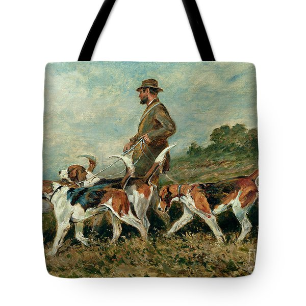 Hunting Exercise Tote Bag by John Emms
