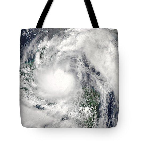 Hurricane Alex Tote Bag by Stocktrek Images
