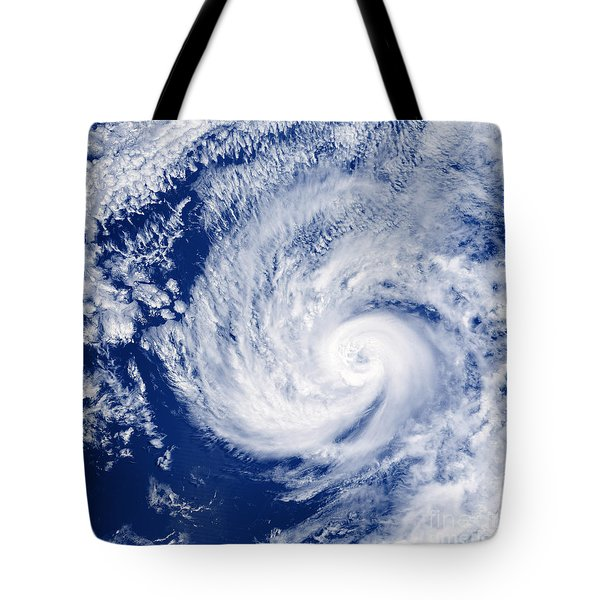 Hurricane Cosme Tote Bag by Science Source