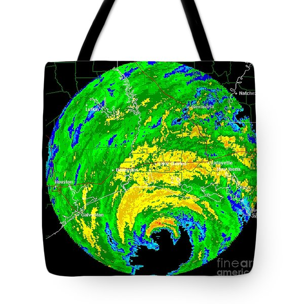 Hurricane Rita, Wfo Radar, 2005 Tote Bag by Science Source