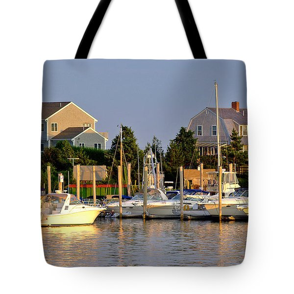 Hyannis Harbor At Sunset Tote Bag