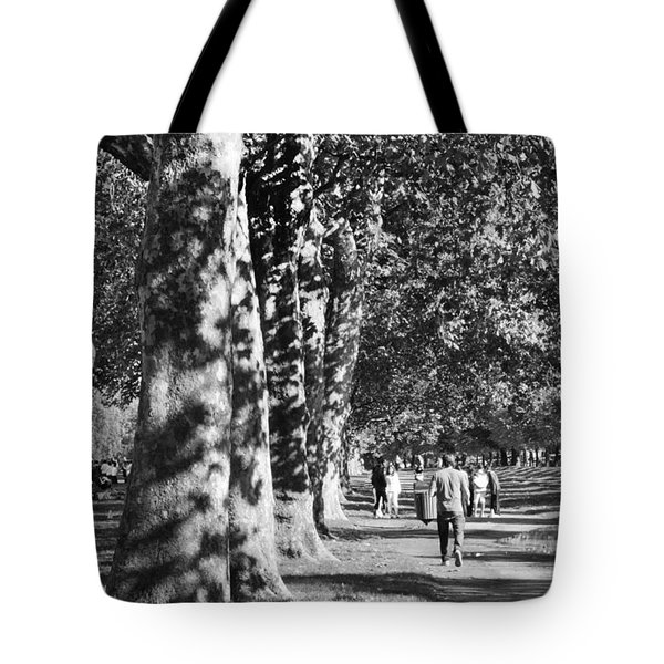 Tote Bag featuring the photograph Hyde Park Trees by Maj Seda