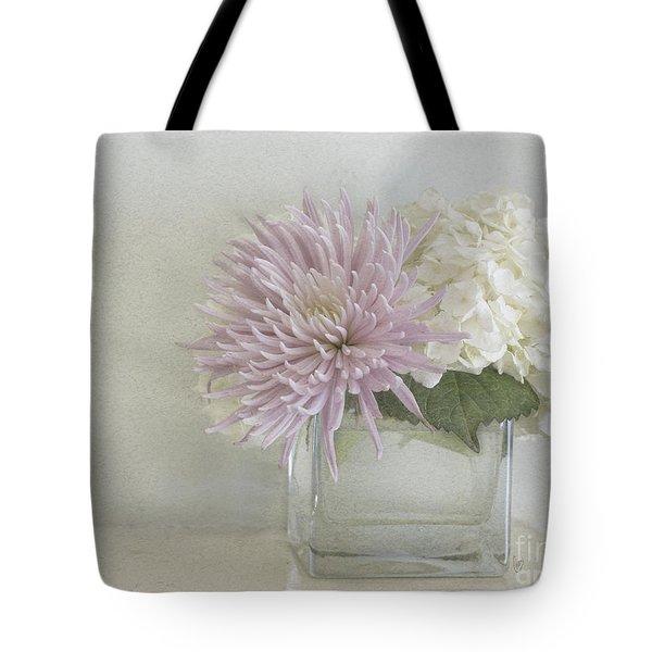 Hydrangea And Mum Tote Bag