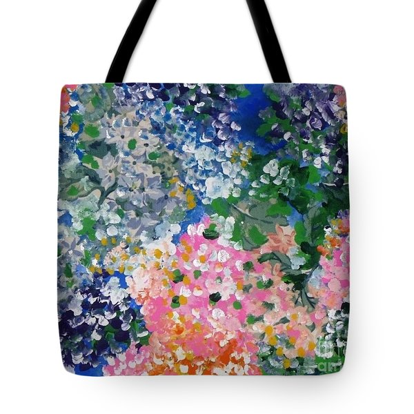 Tote Bag featuring the painting Hydrangeas I by Alys Caviness-Gober