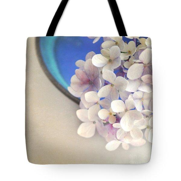 Hydrangeas In Blue Bowl Tote Bag