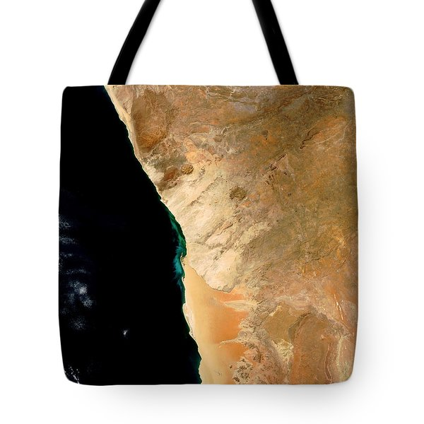 Hydrogen Sulfide Eruption Off Namibia Tote Bag by Nasa