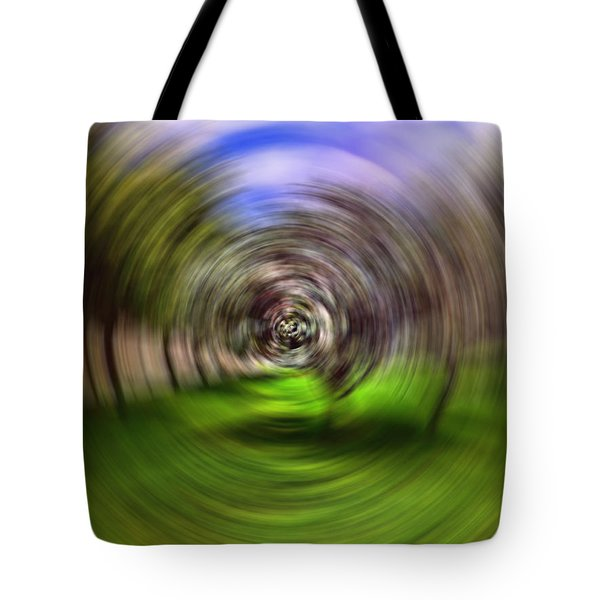 Hypnotic Swirl Tote Bag by Lourry Legarde