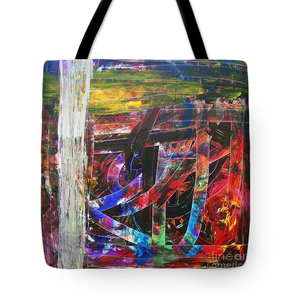 Tote Bag featuring the painting Hypomania by Ania M Milo