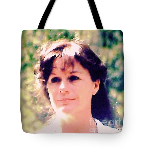 Tote Bag featuring the photograph I Love My Life by Ann Johndro-Collins