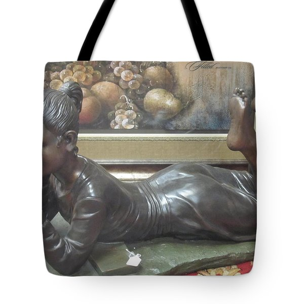 Tote Bag featuring the photograph I Love To Read by Tina M Wenger