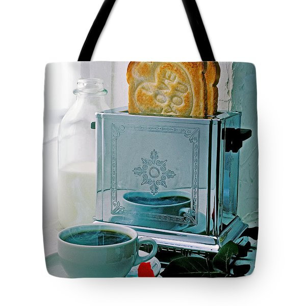 I Love You Toast Tote Bag by Garry Gay