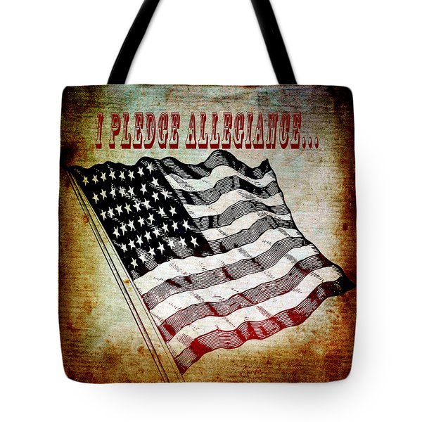 I Pledge Allegiance Tote Bag by Angelina Vick