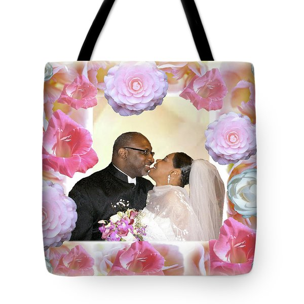 I Pronounce You Husband And Wife Tote Bag by Terry Wallace