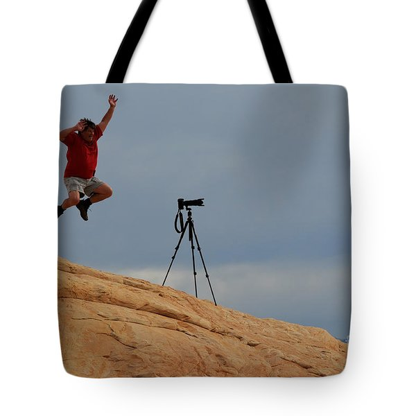 I Think He Got The Shot Tote Bag by Vivian Christopher