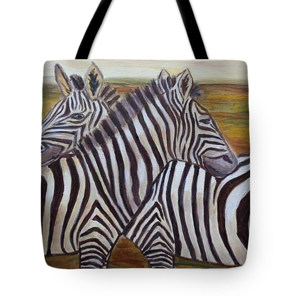 Tote Bag featuring the painting I Think Its This Way by Julie Brugh Riffey