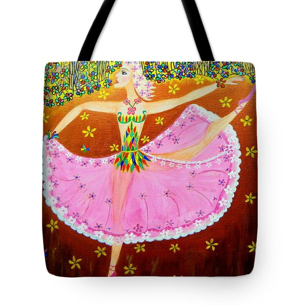 Tote Bag featuring the painting I Want To Dance All Night. by Marie Schwarzer