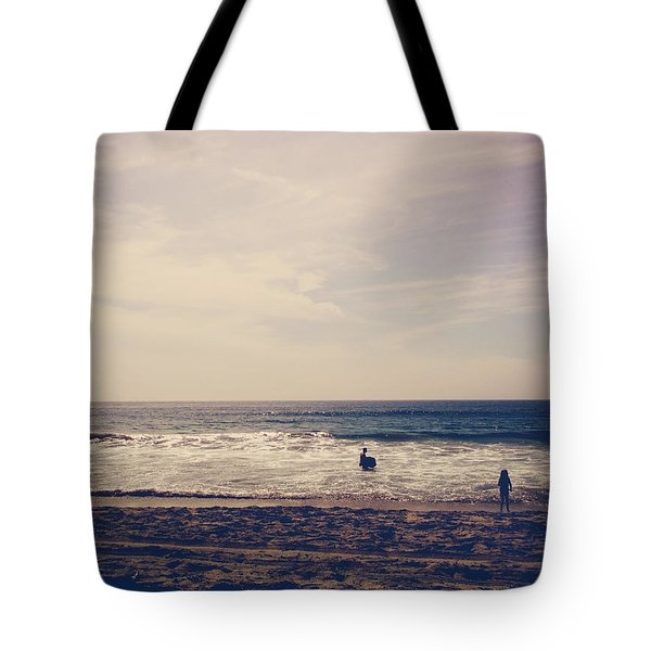 I Want To Swim In The Ocean With You Tote Bag by Laurie Search