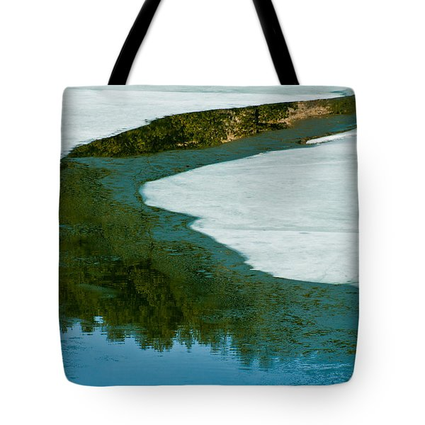 Ice Borders Tote Bag by Colleen Coccia