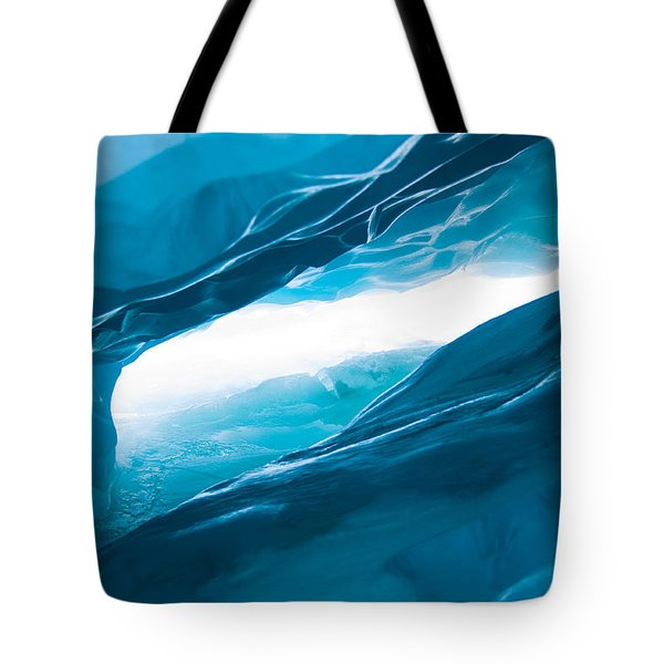 Ice Cave On The Glacier Tote Bag by John White