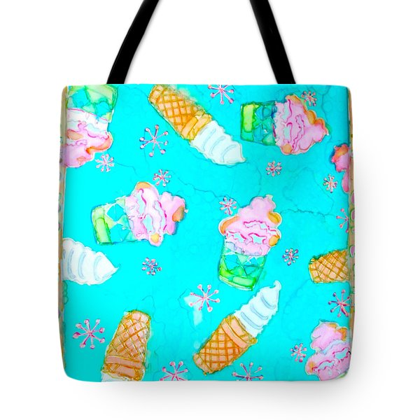 Ice Cream I Scream Tote Bag by Beth Saffer