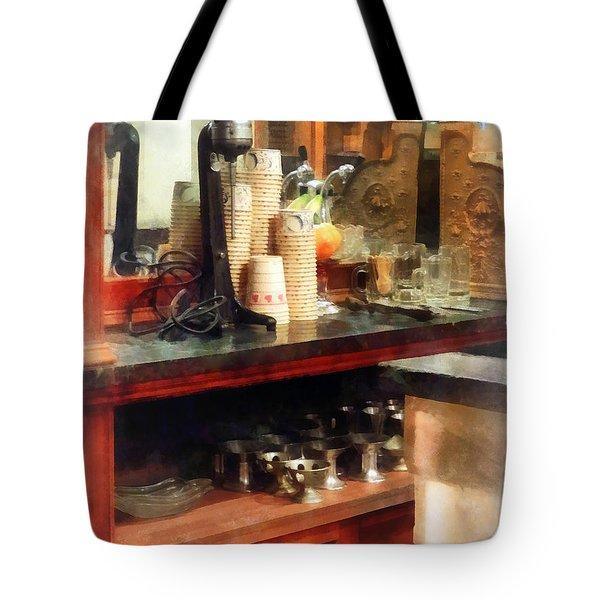 Ice Cream Parlor Tote Bag by Susan Savad