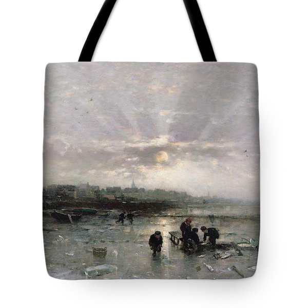 Ice Fishing Tote Bag by Ludwig Munthe