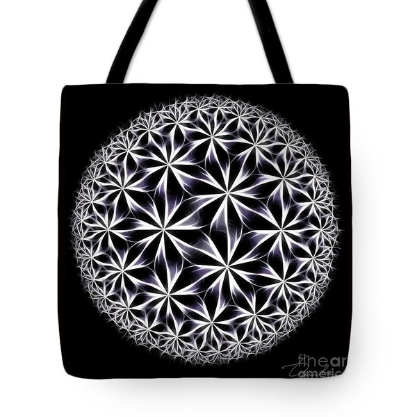 Ice Flowers Tote Bag