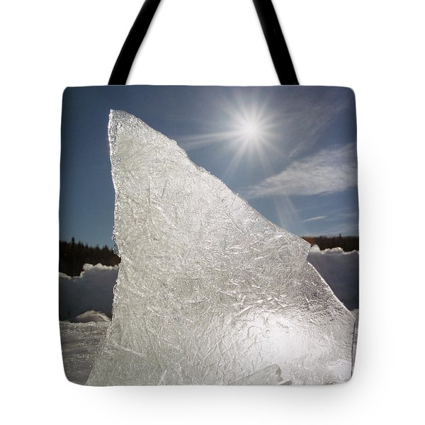 Ice Formation Along The Bow River Tote Bag by Darwin Wiggett