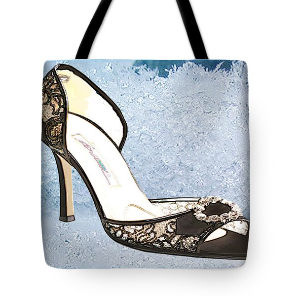 Ice Princess Lace Pumps Tote Bag by Elaine Plesser