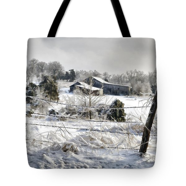Ice Storm - D004825a Tote Bag by Daniel Dempster