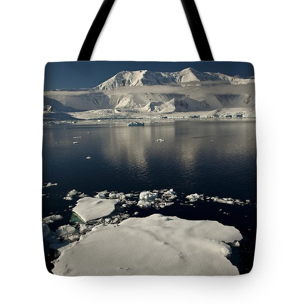 Icefloe In The Neumayer Channel Tote Bag by Colin Monteath