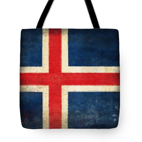 Iceland Flag Tote Bag by Setsiri Silapasuwanchai