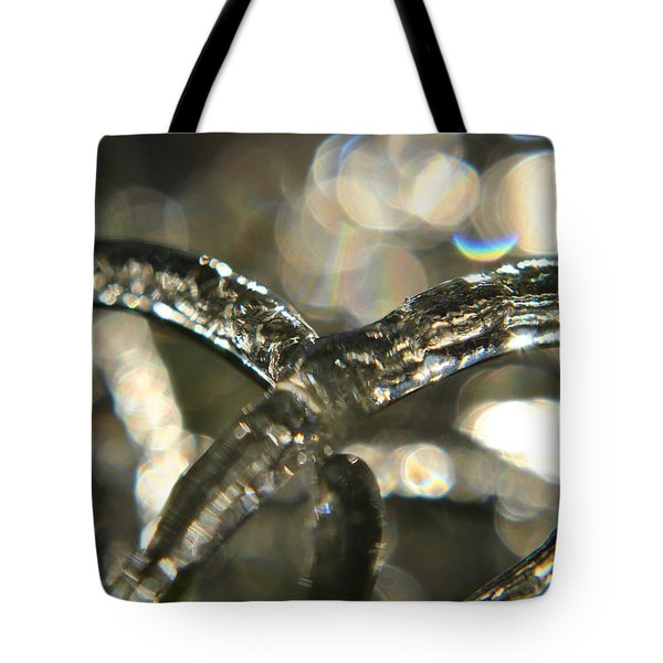 Tote Bag featuring the photograph Icy Abstract by Kelly Nowak