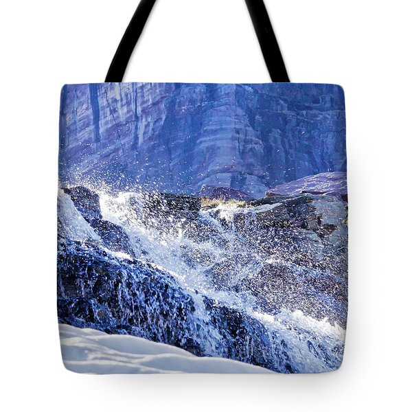 Icy Cascade Tote Bag by Albert Seger
