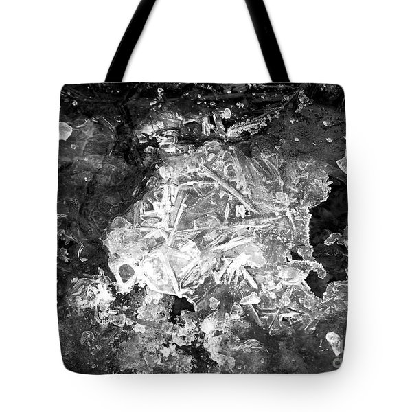 Tote Bag featuring the photograph Icy Road by Chalet Roome-Rigdon