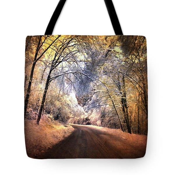 Icy Road Tote Bag by Jai Johnson