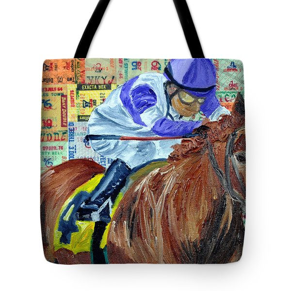 I'll Have Another Wins Tote Bag by Michael Lee