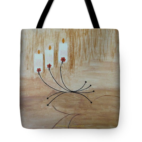 Tote Bag featuring the painting Illumination by Sonali Gangane