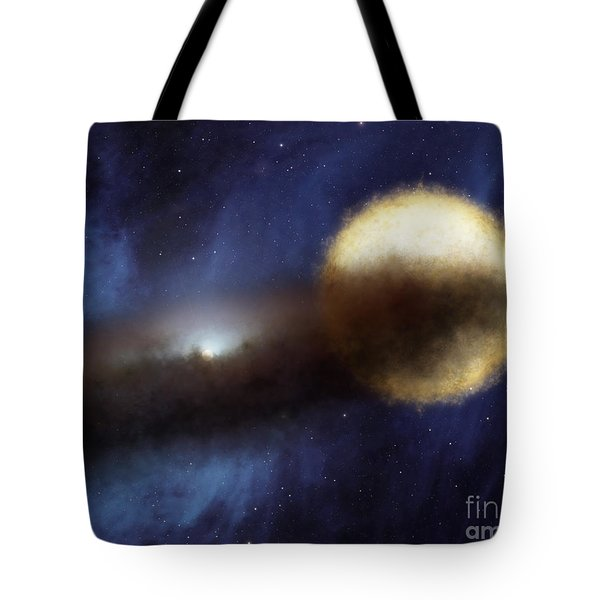 Illustration Of A Bright Star Called Tote Bag by Stocktrek Images