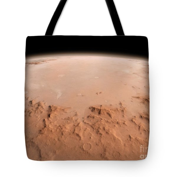 Illustration Of The Argyre Impact Basin Tote Bag by Walter Myers