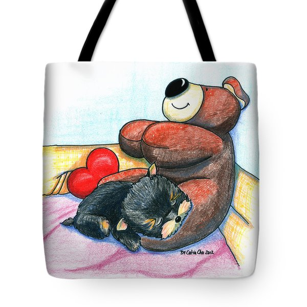 I'm Glad We Are Friends Tote Bag by Catia Cho