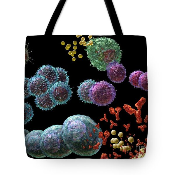 Tote Bag featuring the digital art Immune Response Antibody 2 by Russell Kightley