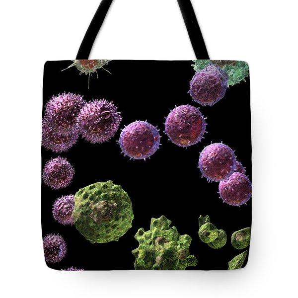 Tote Bag featuring the digital art Immune Response Cytotoxic 2 by Russell Kightley