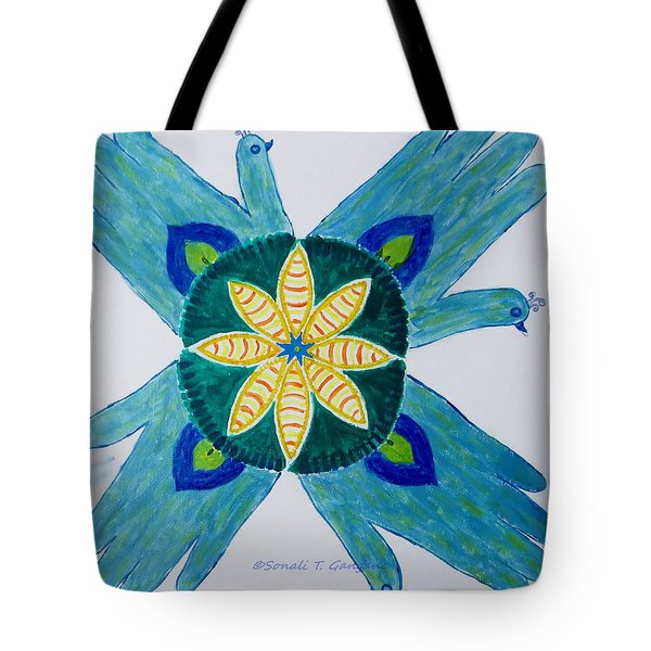 Tote Bag featuring the painting Impression by Sonali Gangane