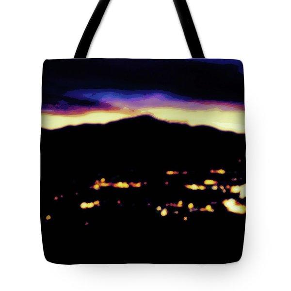Impressionistic Pikes Peak Tote Bag by Clarice  Lakota