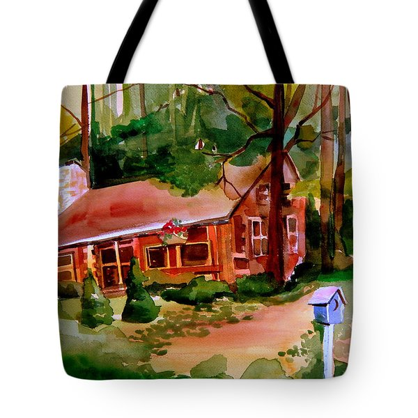 In A Cottage In The Woods Tote Bag