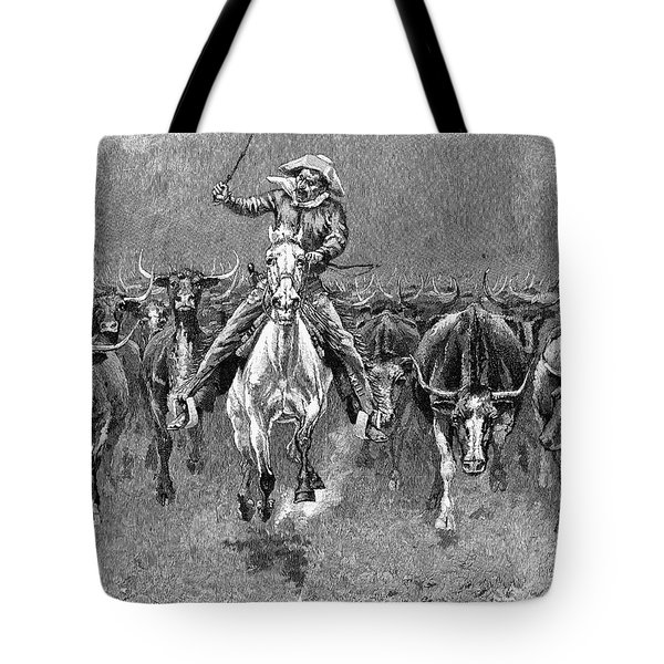 In A Stampede Tote Bag by Granger