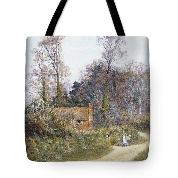 In A Witley Lane Tote Bag by Helen Allingham