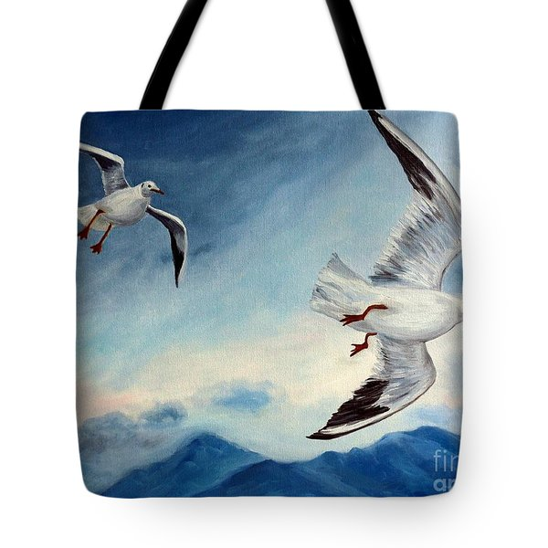 In Flight Tote Bag by Julie Brugh Riffey