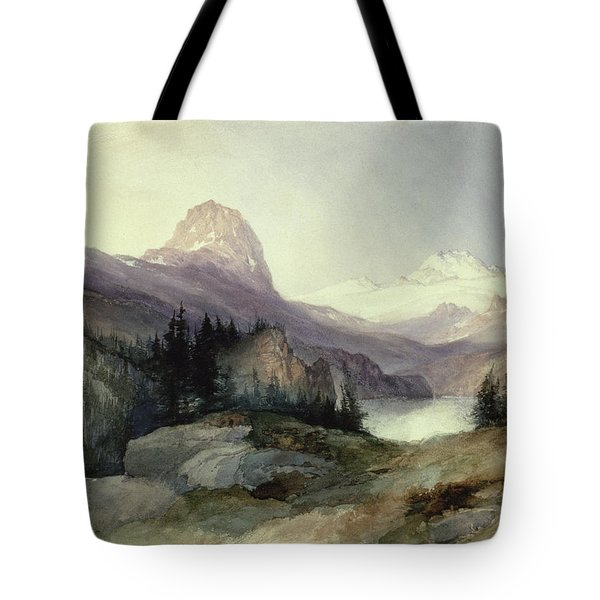 In The Bighorn Mountains Tote Bag by Thomas Moran